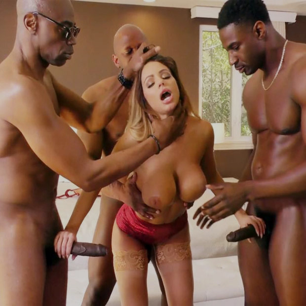 Ганг банг с Brooklyn Chase и тремя